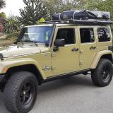 2013 AEV Jeep JK Rubicon Unlimited 4 Door, 6 speed In Rare Commando Green