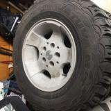 """Set of 4 15"""" Nokan Vativa M/T Tires (30x9.5x15) and 15 inch Jeep Wheels"""