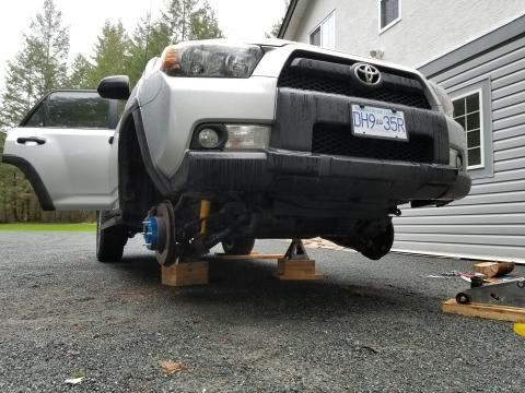 OME suspension lift installation