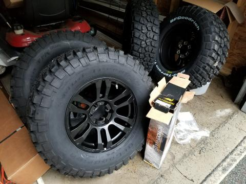 4Runner mods before installation - lift and tires