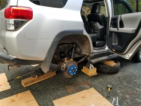 Rear suspension installation