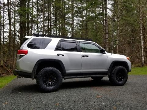 5th gen 4Runner MB TKO rims KM2 tires