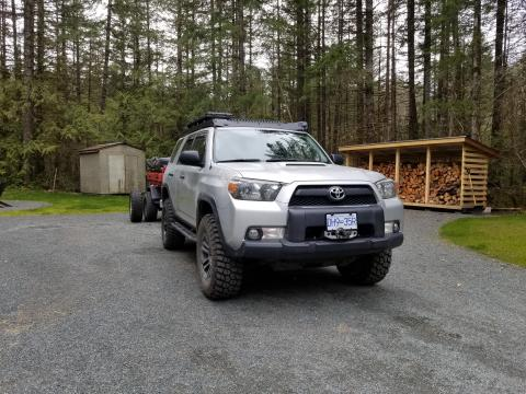 5th gen 4Runner hidden Warn winch