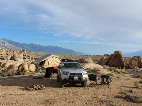 5th gen 4Runner overlanding North America - Alabama hills camping