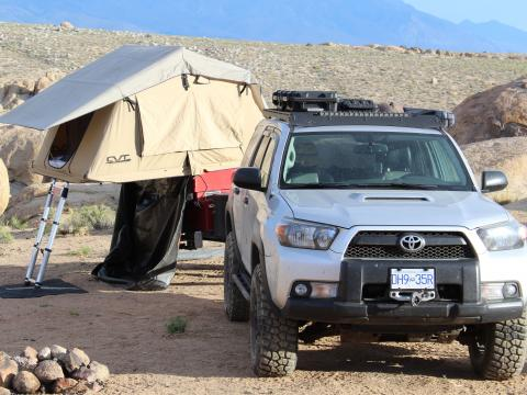 5th gen 4Runner overlanding North America - Alabama hills rtt