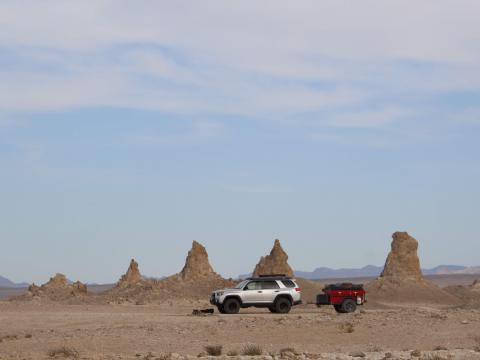 5th gen 4Runner overlanding North America -Trona Pinnacles, California
