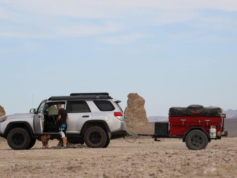 5th gen 4Runner overlanding North America - Trona Pinnacles, California
