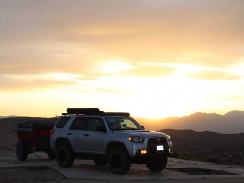 5th gen 4Runner overlanding North America - California sunset