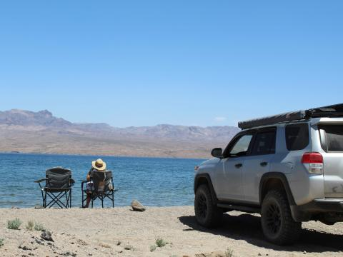 5th gen 4Runner overlanding North America -Lake Mead, Nevada