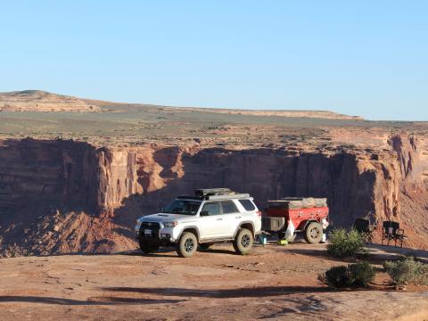 5th gen 4Runner overlanding North America - Camping spot @ Moab, Utah