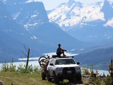 5th gen 4Runner overlanding North America - looking into Glacier National Park, Montana