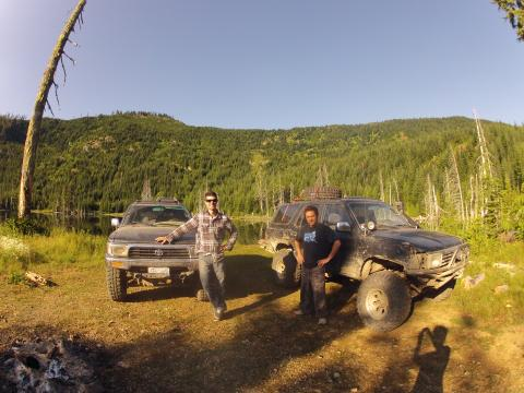 Sherk Lake, BC - 4Runners off road 4x4
