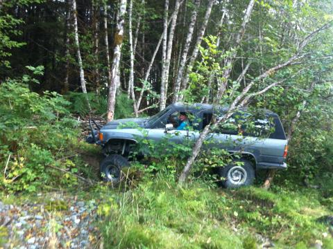 Toyota 4runner in the bush Vancouver Island BC 4x4