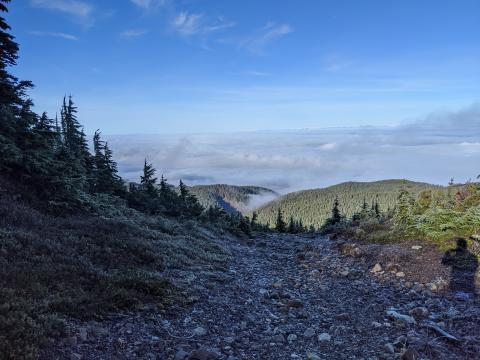 Mt Arrowsmith Vancouver Island BC mountain view