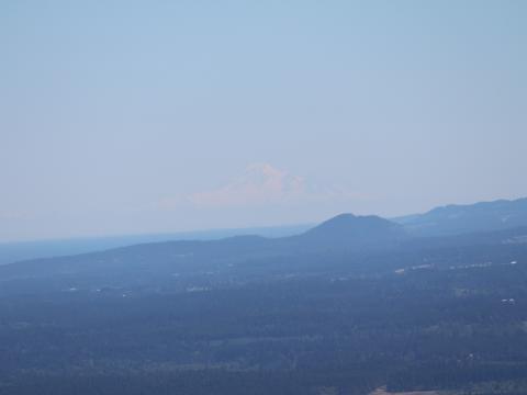 Mt Baker in the smog
