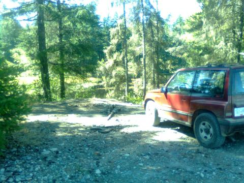 pinki at whiskey lake before any roads were open.