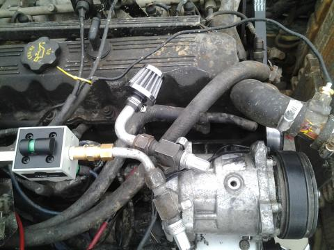 top view, oil sump not finnished yet but you get the picture.
