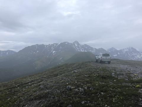 Top of a mountain off the Cassiar again.